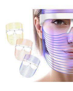 3-in-1 LED-Photonentherapie Gesichtsschild - Rot-Blau-Orange Biowellen Gesichtsmaske