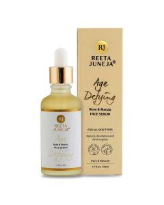 Reeta Juneja - Anti-Aging Rose & Marula Gesichtsserum - erhält die Feuchtigkeit der Haut - 50ml