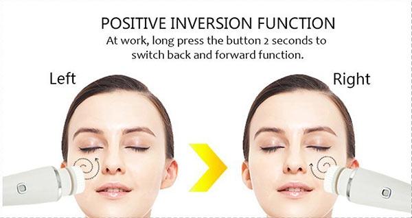Elektrische 3-in-1 Gesichtsreinigungsbürste zur Tiefenreinigung - wasserdicht