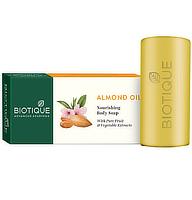 Biotique Bio Mandelöl Körperseife mit Verpackung