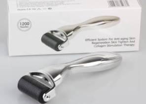 Body Derma Roller 2.00mm - 1200 Nadeln (Handgriff in Farben Gold od. Silber)